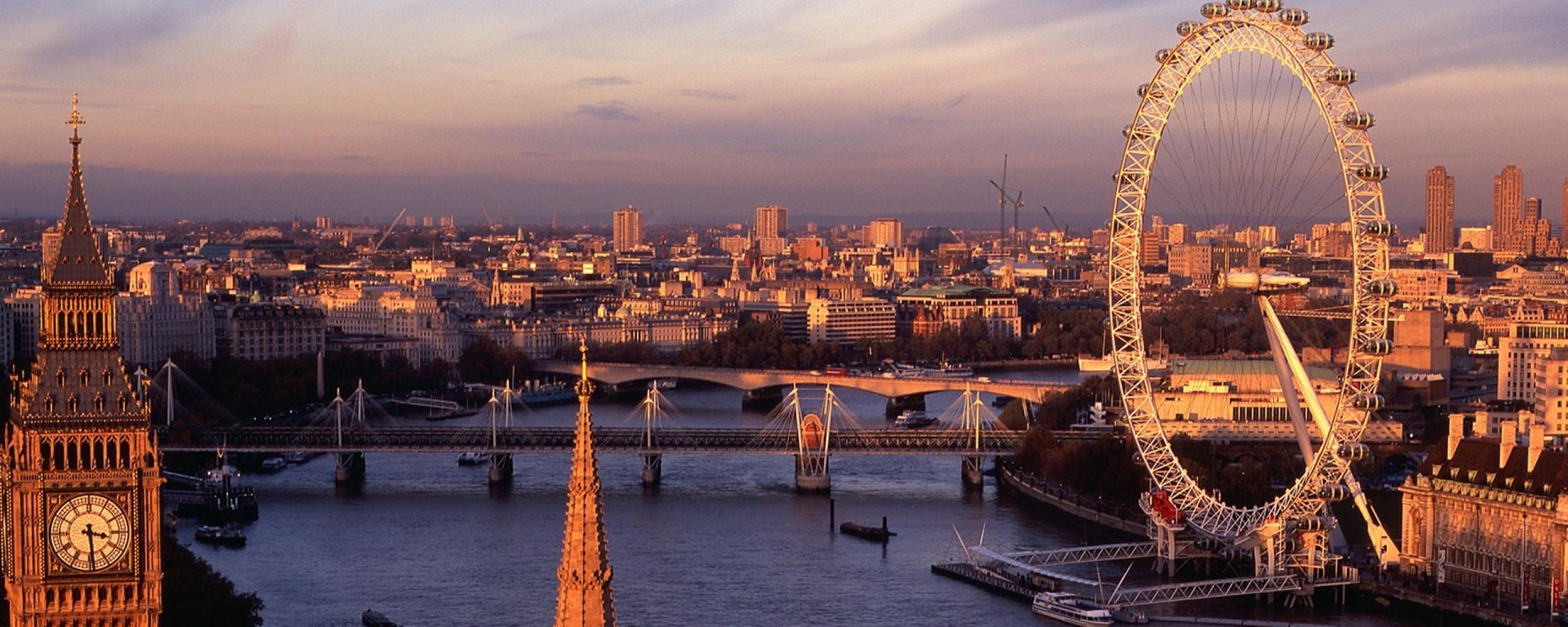 london_england_river_bridge_big_ben_ferris_wheel_47850_2560x1024